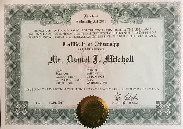 LIberland Citizenship