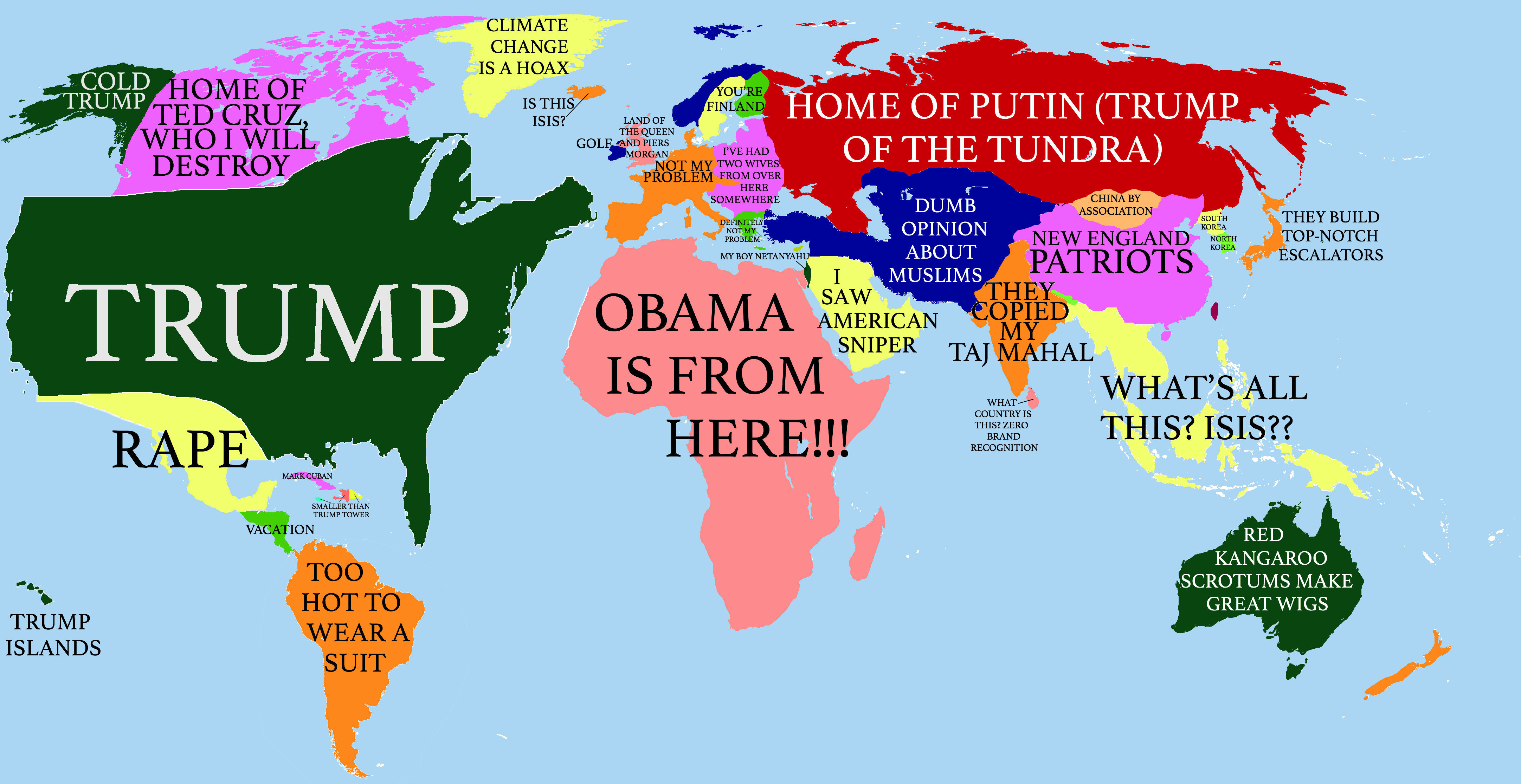 fbd8037cb This World-according-to-Trump map is quite clever (January 15, 2018 update:  The previous link no longer works, so I've inserted another version).