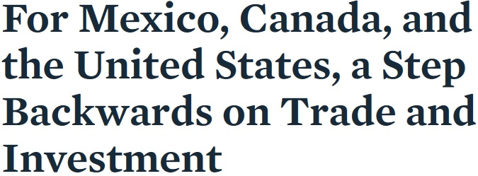 Nafta Usmca And Dodged Bullets International Liberty