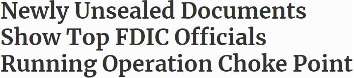 "Will Biden Resuscitate Obama's Reprehensible ""Operation Choke Point""?"
